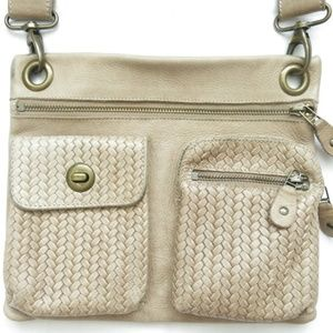 ROOTS Canada Leather Crossbody Messenger Bag